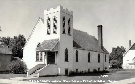 Congregational Church, Mahnomen Minnesota, 1940's