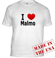 I Love Malmo Fitted T-Shirt