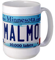 Malmo License Plate Large Mug