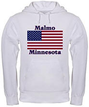 Malmo US Flag Hooded Sweatshirt