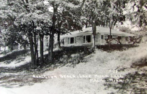 Carlsona Beach Resort on Lake Mille Lacs, Malmo Minnesota, 1950's