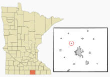 Location of Manchester, Minnesota