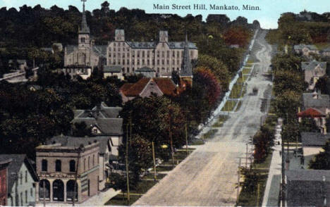 Main Street Hill, Mankato Minnesota, 1910's?
