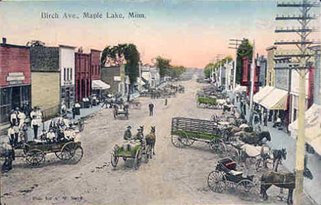 Birch Avenue, Maple Lake Minnesota, 1909