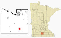 Location of Mapleton, Minnesota