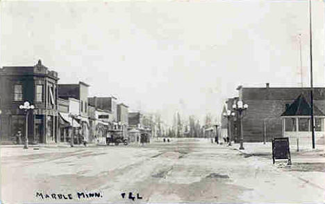 View of Downtown Marble Minnesota, 1910's