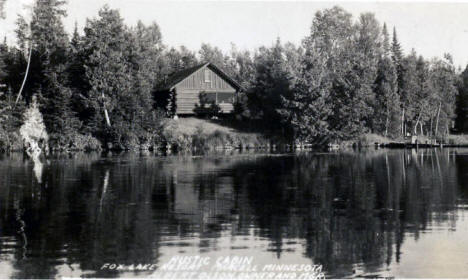 Cabin at Fox Lake Resort, Marcell Minnesota, 1949