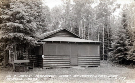 No. 7 Cabin at Pinecrest Camp on North Star Lake, Marcell Minnesota, 1940's