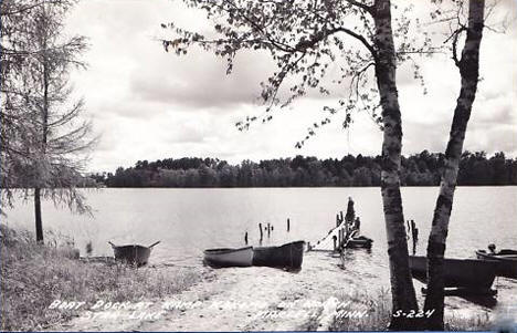 Boat Dock, Camp Kokomo on North Star Lake, Marcell Minnesota, 1940's