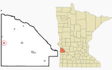 Location of Marietta, Minnesota