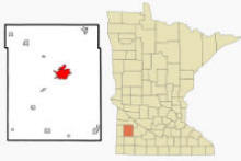 Location of Marshall, Minnesota