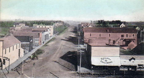 Birds eye view, Maynard Minnesota, 1900's