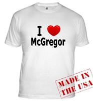 I Love McGregor Fitted T-Shirt