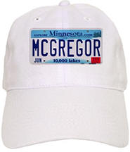 McGregor License Plate Cap