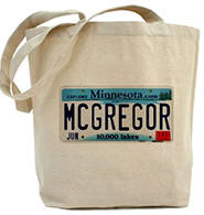 McGregor License Plate Tote Bag