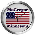 McGregor US Flag Modern Wall Clock