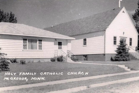 Holy Family Catholic Church, McGregor Minnesota, 1960's
