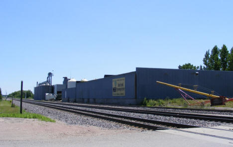 Railroad tracks and Grain Elevator, McIntosh Minnesota, 2009