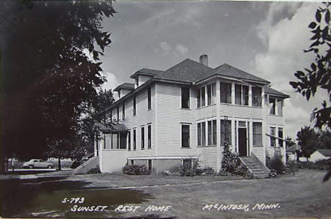 Sunset Rest Home, McIntosh, Minnesota, 1940's