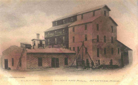 Electric Light Plant and Mill, McIntosh Minnesota, 1912