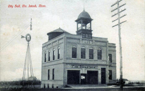 Fire Department, McIntosh Minnesota, 1910