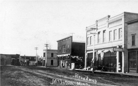 Broadway, McIntosh Minnesota, 1910