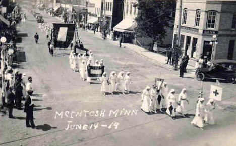 Parade, McIntosh, Minnesota, 1919