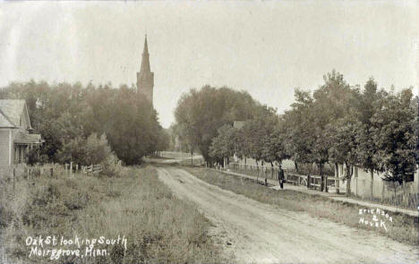 Oak Street looking south, Meire Grove Minnesota, 1909