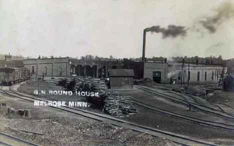 Great Northern Roundhouse, Melrose Minnesota, 1910's