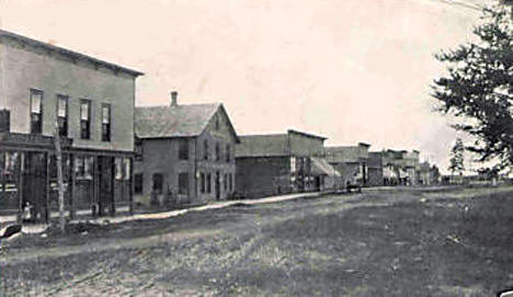 Crooks Avenue, Menahga Minnesota, 1909