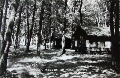 Jeanne's Resort on Twin Lakes, Menahga Minnesota, 1950's