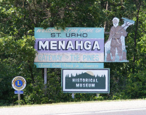 Menahga Minnesota Welcome Sign, 2007