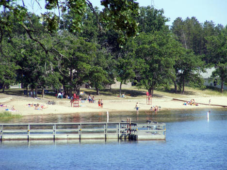 Beach on Spirit Lake in Menahga Minnesota, 2007
