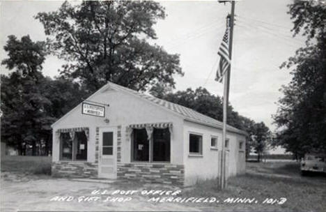 Post Office and Gift Shop, Merrifield Minnesota, 1959