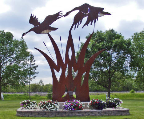 Flying Geese Sculpture in Middle River Community Club Park, Middle River Minnesota, 2009