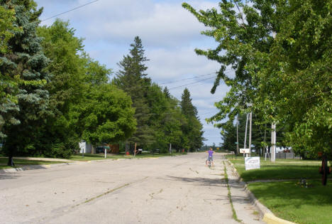 Street scene, Middle River Minnesota, 2009
