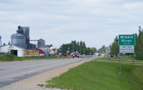 Entering Middle River Minnesota from the south, 2009