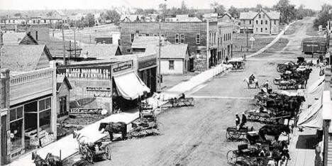 Business District, Milaca Minnesota, early 1900's