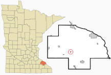 Location of Millville, Minnesota