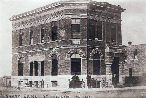 State Bank of Milroy, Milroy Minnesota, 1909