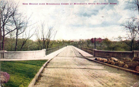 New Bridge over Minnehaha Creek at Minnesota State Soldiers Home, 1920