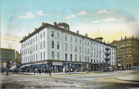 Nicollet Hotel and Temple Court, Minneapolis Minnesota, 1900's