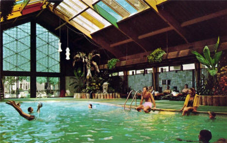Pool at Curtis Hotel and Motor Lodge, Minneapolis Minnesota, 1960's