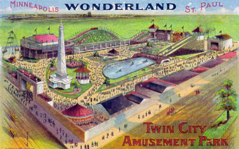 Wonderland Amusement Park, Minneapolis Minnesota, 1908