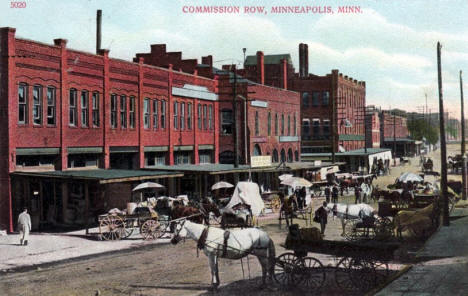 Commission Row, Minneapolis Minnesota, 1909