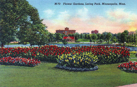 Flower Gardens, Loring Park, Minneapolis Minnesota, 1938