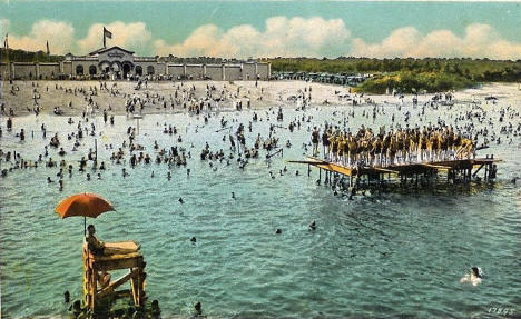 Beach at Lake Nokomis, Minneapolis Minnesota, 1920's