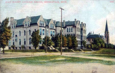 Holy Rosary Catholic School, Minneapolis Minnesota, 1909