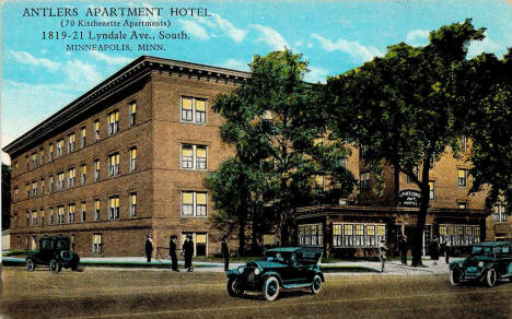 Antlers Apartment Hotel, Minneapolis Minnesota, 1930's