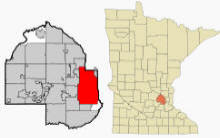 Location of Minneapolis Minnesota